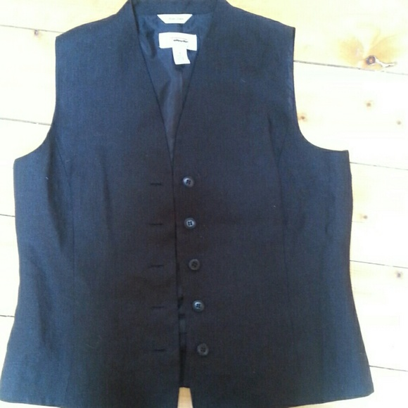 Talbots Jackets & Blazers - Irish linen black vest.